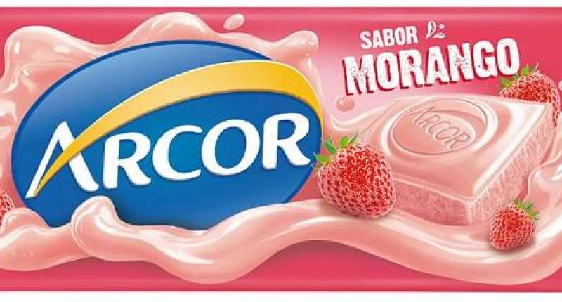 Arcor lança tablete de chocolate branco com morango